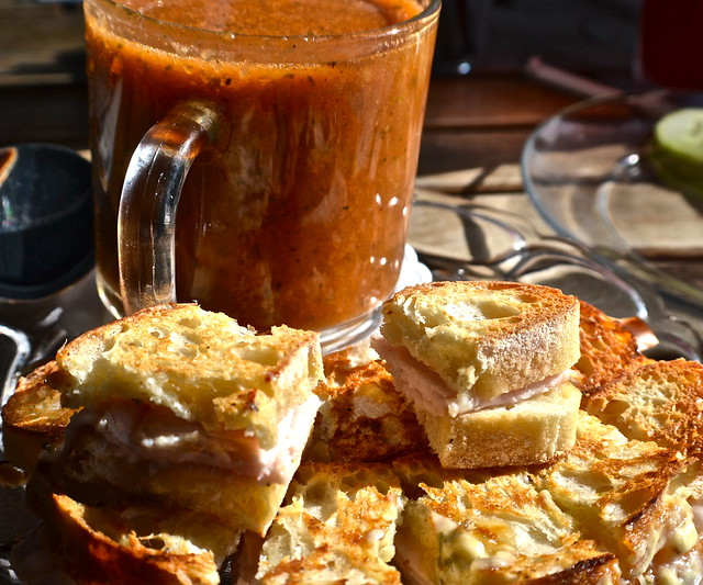 panini and tomato roasted soup