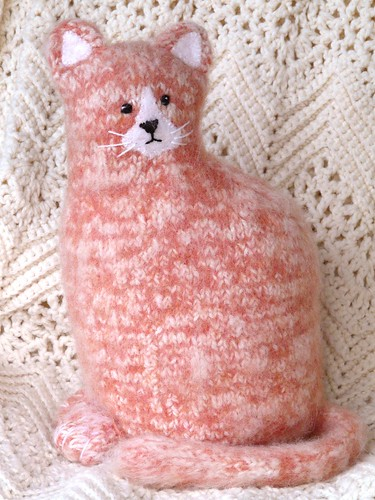 Knitted and Felted Woolly Kitty Kat