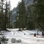 Sledding in Yosemite