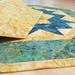 238_Navy Landscape Batik Gold Table Topper_f