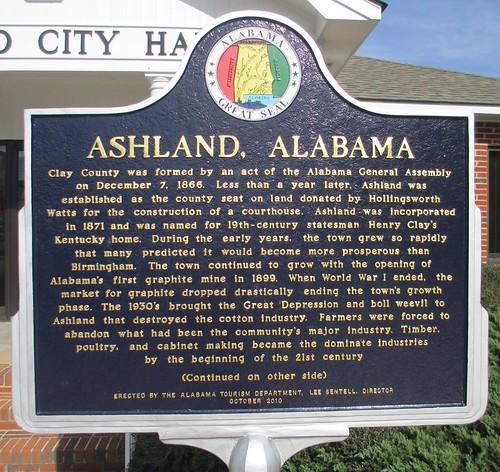 Ashland Marker (Ashland, Alabama)