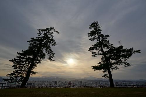 sunset castle pine 夕景 tottori 鳥取 鳥取城 tottoricastle