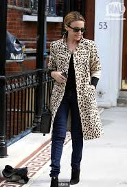 Kylie Minogue Leopard Print Coat Celebrity Style Women's Fashion
