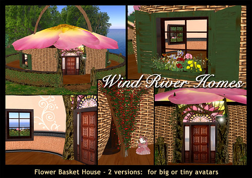 Flower Basket House by Teal Freenote