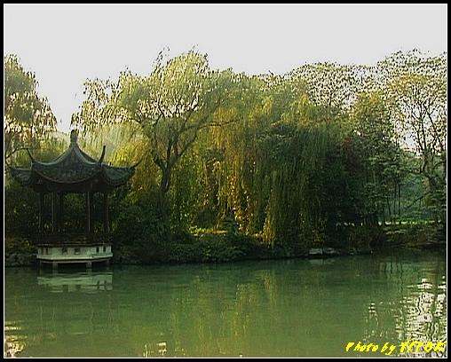 杭州 西湖 (其他景點) - 516 (西湖十景之 柳浪聞鶯 在這裡準備觀看 西湖十景的雷峰夕照 (雷峰塔日落景致)