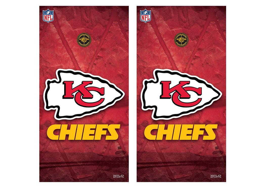 Kansas City Chiefs Cornhole Decal Wrap Set