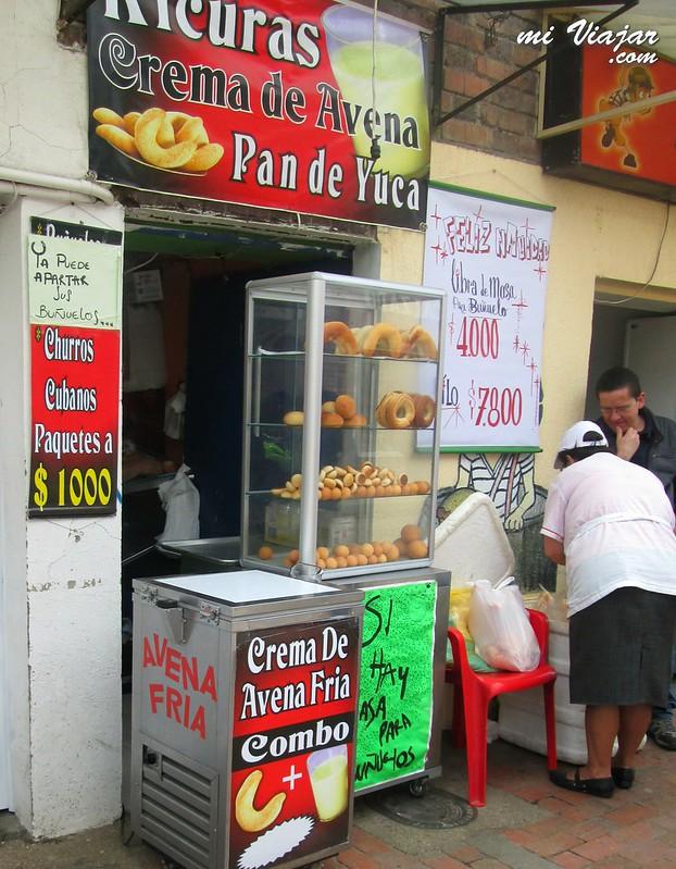 comidas callejeras: avena colombia
