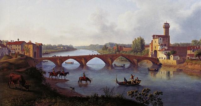 Jacob Philipp Hackert (1737-1807) - Der Ponte a Mare in Pisa (Toscana, 1799)
