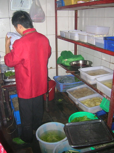 Behind the scenes in Chinese restaurant