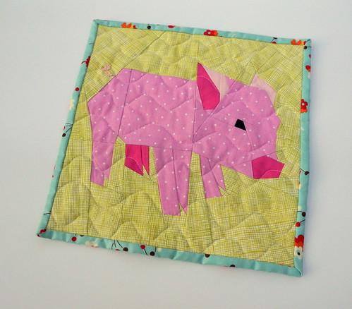 Paper-Pieced Pig