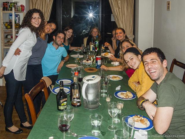 Cena con mis excelentes anfitriones