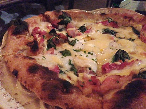 Eggs Benedict Pizza at Faith and Flower