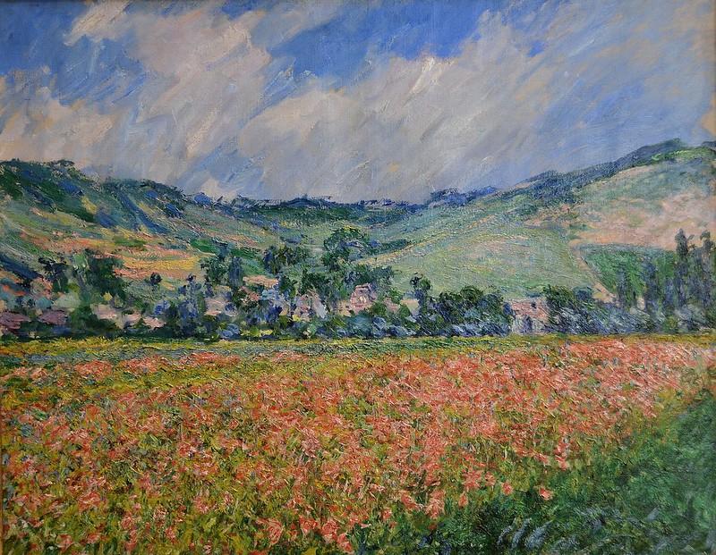 """Rouen (Seine-Maritime) - Musée des Beaux-Arts - """"Champ de coquelicots, Environs de Giverny, 1885"""" (Claude Monet, 1840-1926)"""