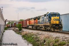 CSX 7557 | GE C40-8 | CSX Memphis Terminal Subdivision