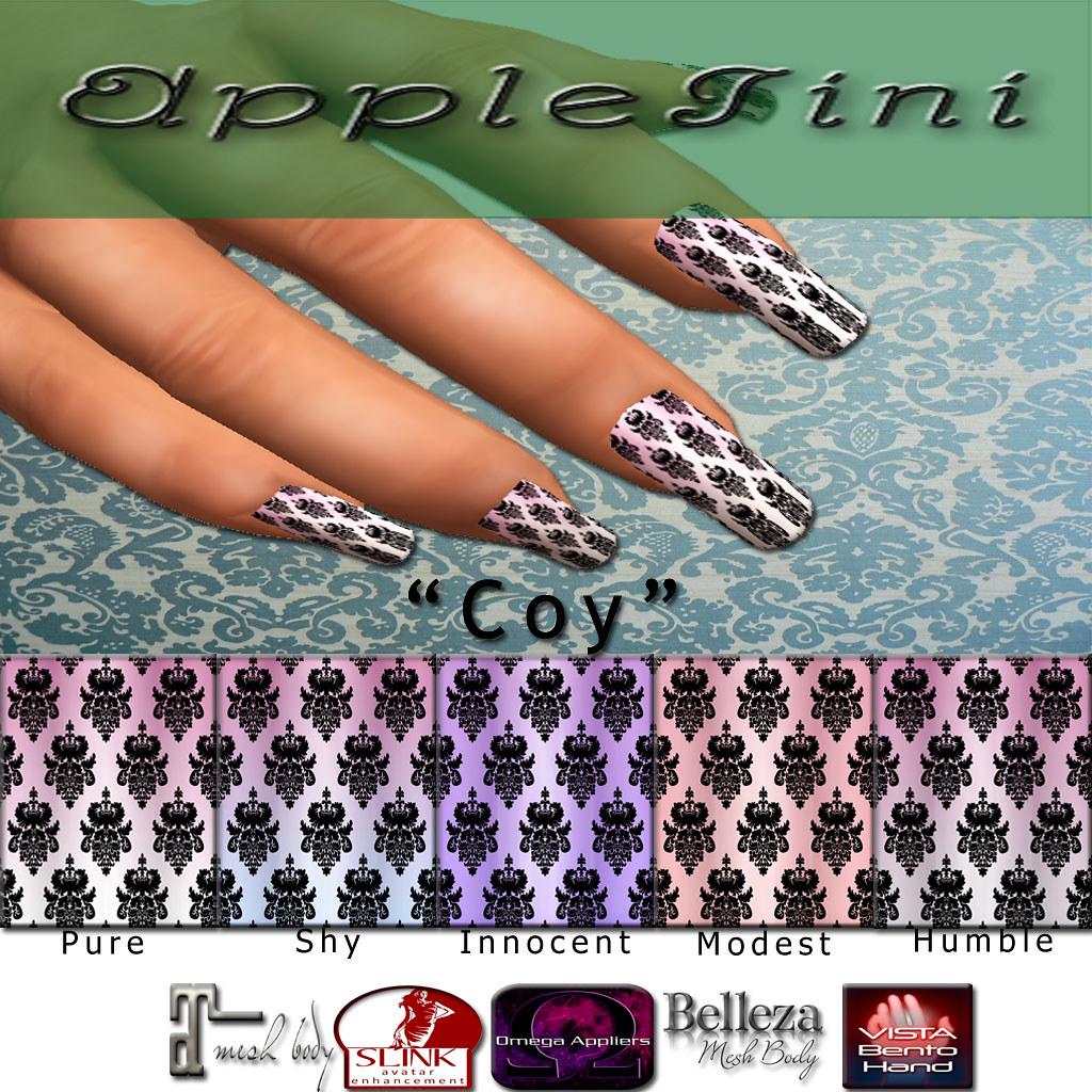 AppleTini Coy Nails - SecondLifeHub.com