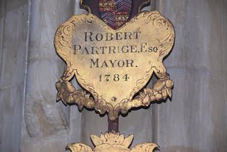 Robert Partrige Esq Mayor 1784