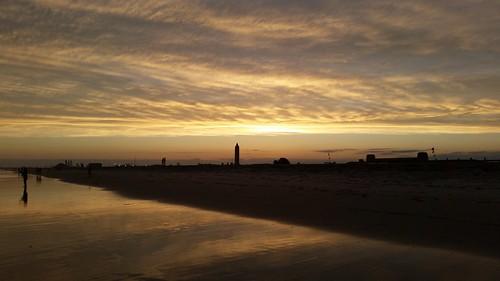 atlanticocean sunset newyork longisland jonesbeach summer sky sun