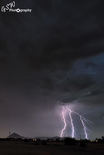 nikon nikond7000 d7000 gswphotography landscape clouds sky land storm weather extremesky phoenix arizona usa unitedstates america atmospheric stormchaser stormchasing extremeweather lightning cloudtoground cg longexposure 20seconds night dark multiple
