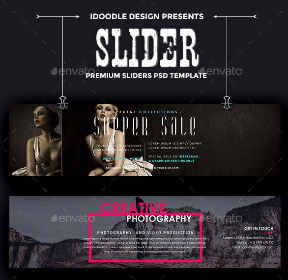 - 50 Sliders PSD