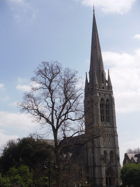 St. Mary's, Stoke Newington, from Clissold Park