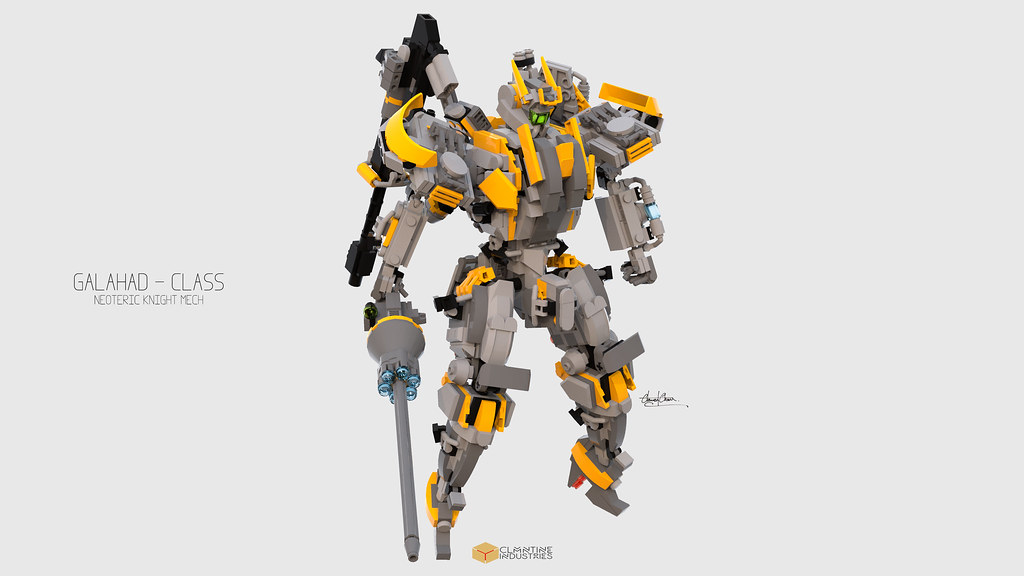 Galahad Class Mech (custom built Lego model)