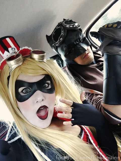 Harley Quinn Steampunk & Batman Cosplay