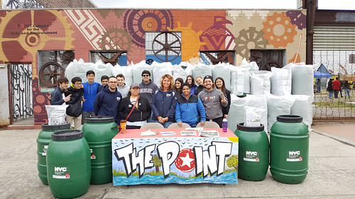 Rain Barrel Giveaway in Hunts Point, Bronx