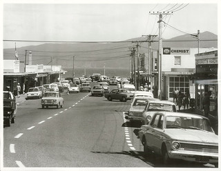 Main shopping area, Paraparaumu Beach. Wellington Province