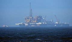 Pioneering Spirit  Evening sun at Hartlepool Bay 01 05 17