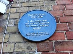 Photo of Martin Snape blue plaque