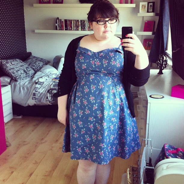 Lazy Sunday #ootd - love my sundress from Very last year. #fatshion #plussize