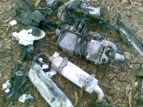 A United States drone crashed in Lower Shabelle, Somalia. Al Shabaab resistance forces said they had shot the weapon down in a military operation on May 28, 2013. by Pan-African News Wire File Photos