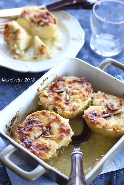 mele al formaggio-baked apple with cheese