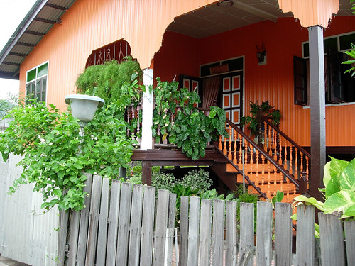 Cute orange kampung house, Terengganu