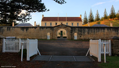 Front Gate Old Military Barracks, Viewed From the Gates of Government House, Quality Row, Kingston, Norfolk Island