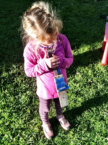 Z's DIY bat. She's an innovator.