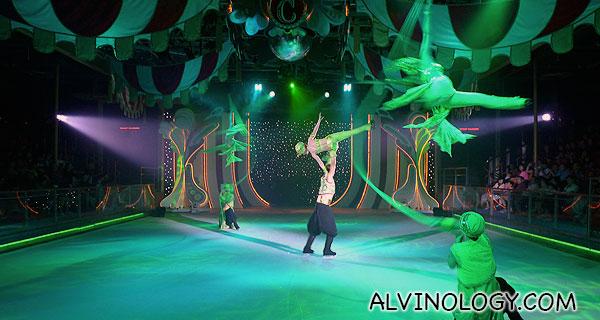 Dazzling acrobatic displays