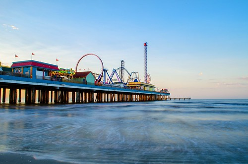 park galveston beach water playground sunrise coast amusement pier nikon day houston clear coastline nikkor d7000