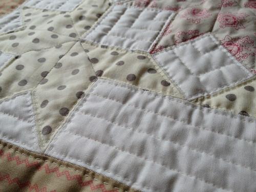 Snow Crystals Mini-Quilt