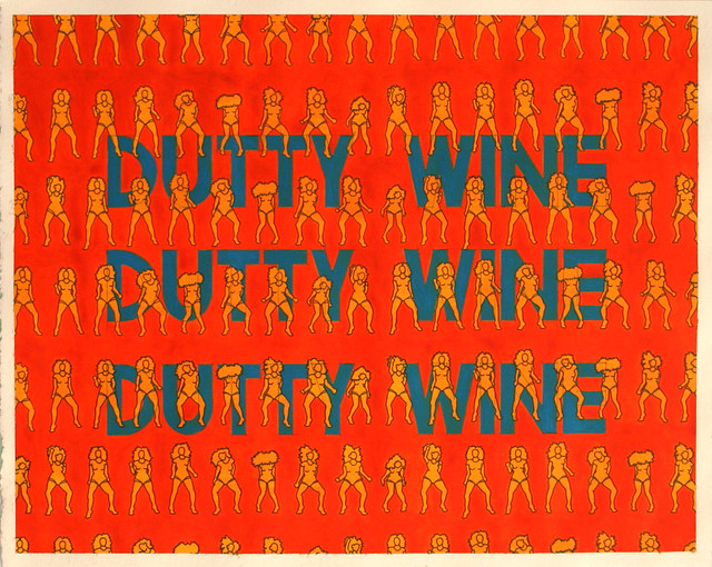 Dutty Wine, Acrylic &; Ink on Paper, 50 cm x 40cm