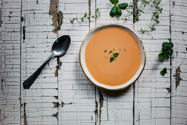 Chilled Tomato Peach Soup from Food52