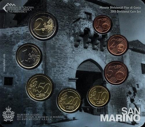 Reverso cartera Euros 2013 San Marino