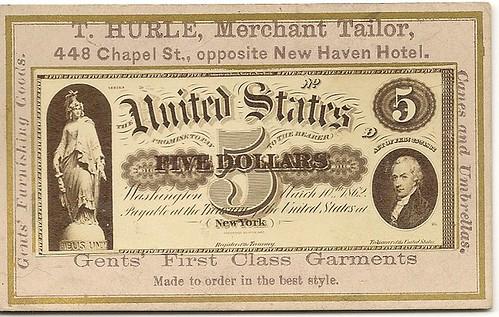 T. Hurle Naramore card $5