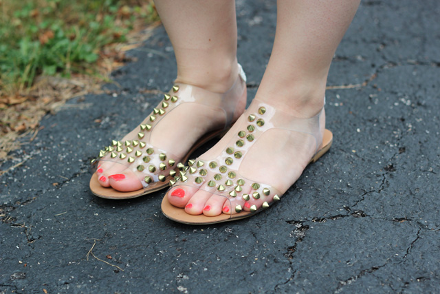 Clear Spiked Sandals