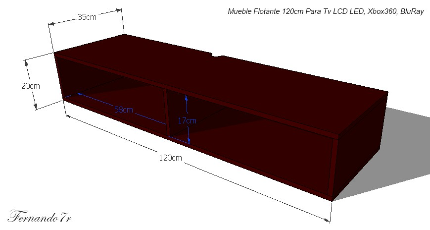 Mueble flotante para tv led xboxone bluray ps4 ref mtv120 hogar moderno - Mueble para tv led ...