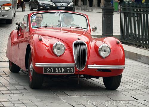 Jaguar XK120DHC ~ la traversee de Paris estivale ~ 2013