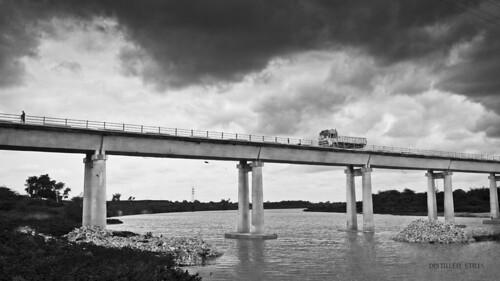 bridge bw monochrome architecture truck river landscape monsoon cloudscape bhima canon600d