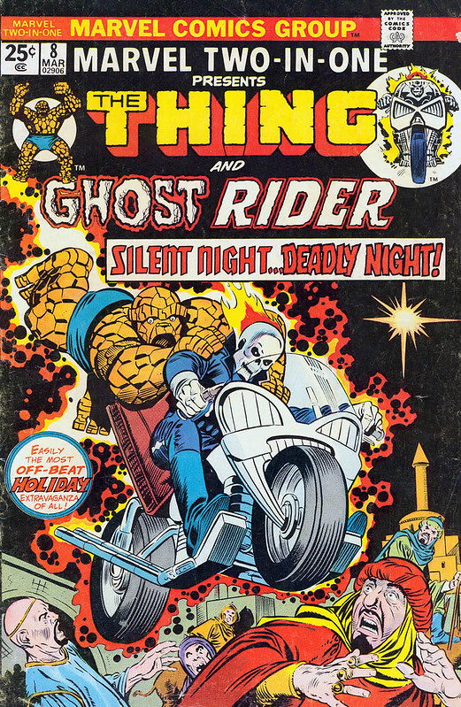 Marvel Two-in-One 8 1975 Ghost Rider Thing by Gil Kane and Joe Sinnott