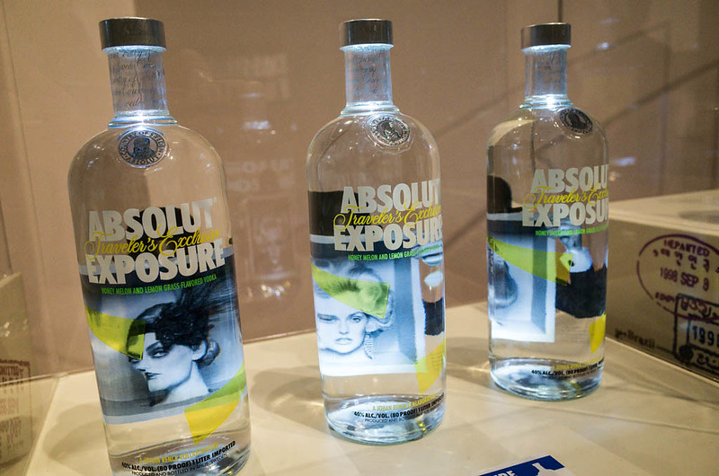 ABSOLUT VODKA designer bottles at the Singapore Night Festival 2013