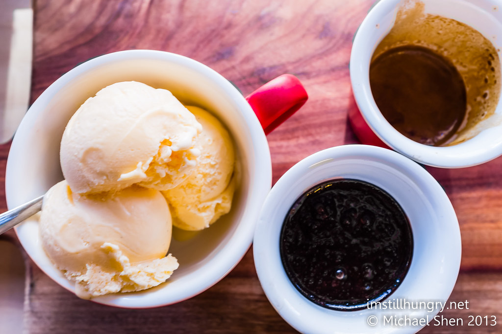 Devon Affogato - vanilla ice cream, dark chocolate sauce & espresso shot devon cafe